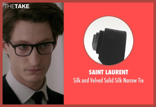 Saint Laurent black tie from Yves Saint Laurent seen with Pierre Niney (Yves Saint Laurent)