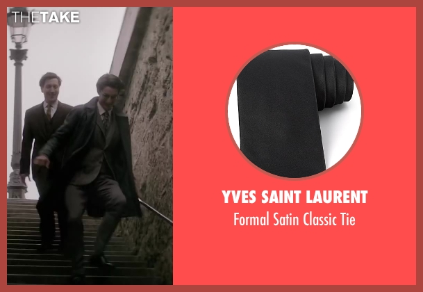 Yves Saint Laurent black tie from Yves Saint Laurent seen with Pierre Niney (Yves Saint Laurent)