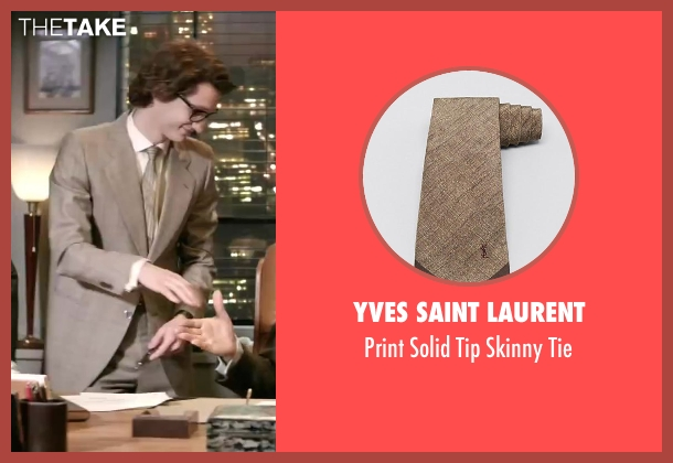 Yves Saint Laurent brown tie from Yves Saint Laurent seen with Pierre Niney (Yves Saint Laurent)