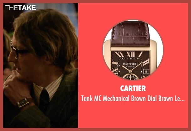 Cartier brown watch from Yves Saint Laurent seen with Pierre Niney (Yves Saint Laurent)