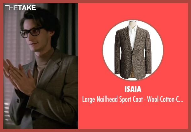 Isaia brown wool-cotton-cashmere from Yves Saint Laurent seen with Pierre Niney (Yves Saint Laurent)
