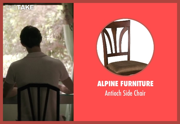 Alpine Furniture chair from Yves Saint Laurent seen with Pierre Niney (Yves Saint Laurent)