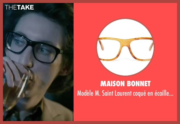 Maison Bonnet eyeglasses from Yves Saint Laurent seen with Pierre Niney (Yves Saint Laurent)