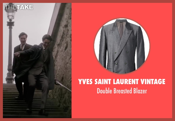 Yves Saint Laurent Vintage gray blazer from Yves Saint Laurent seen with Pierre Niney (Yves Saint Laurent)