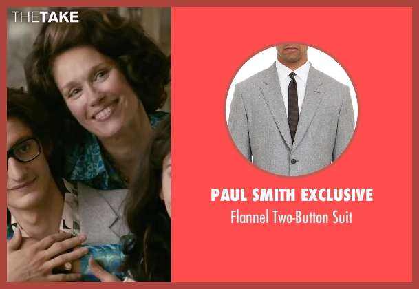 Paul Smith Exclusive gray suit from Yves Saint Laurent seen with Pierre Niney (Yves Saint Laurent)