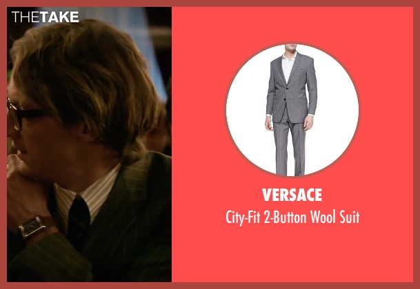 Versace gray suit from Yves Saint Laurent seen with Pierre Niney (Yves Saint Laurent)