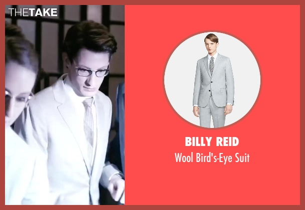 Billy Reid gray suit from Yves Saint Laurent seen with Pierre Niney (Yves Saint Laurent)