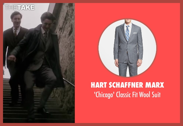 Hart Schaffner Marx gray suit from Yves Saint Laurent seen with Pierre Niney (Yves Saint Laurent)