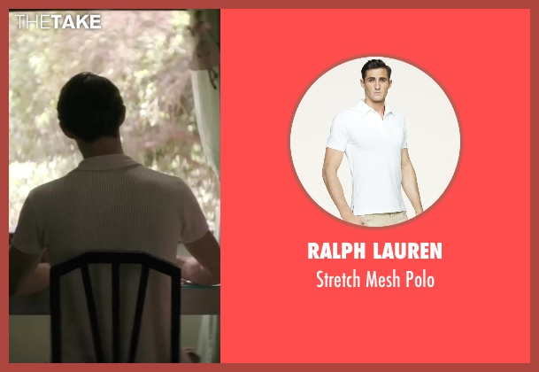 Ralph Lauren white polo from Yves Saint Laurent seen with Pierre Niney (Yves Saint Laurent)