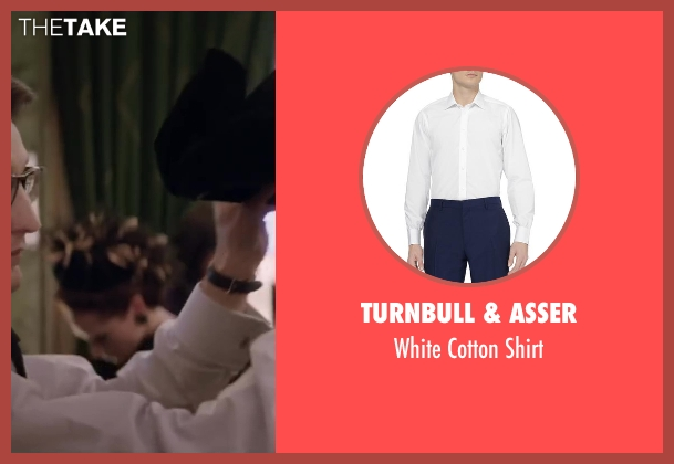 Turnbull & Asser white shirt from Yves Saint Laurent seen with Pierre Niney (Yves Saint Laurent)