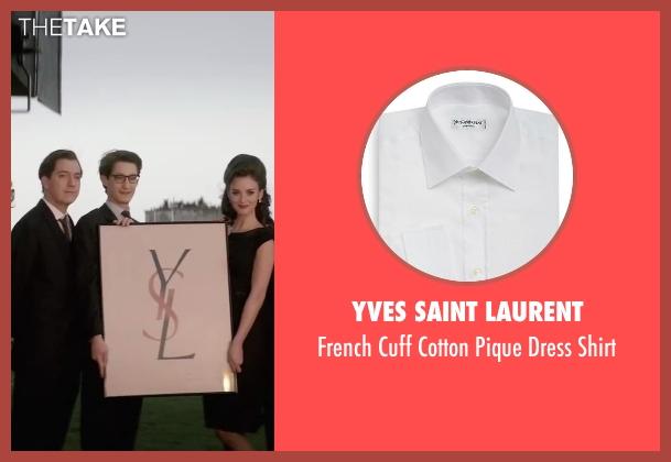 Yves Saint Laurent white shirt from Yves Saint Laurent seen with Pierre Niney (Yves Saint Laurent)