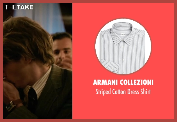 Armani Collezioni white shirt from Yves Saint Laurent seen with Pierre Niney (Yves Saint Laurent)