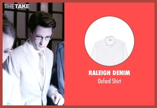 Raleigh Denim white shirt from Yves Saint Laurent seen with Pierre Niney (Yves Saint Laurent)