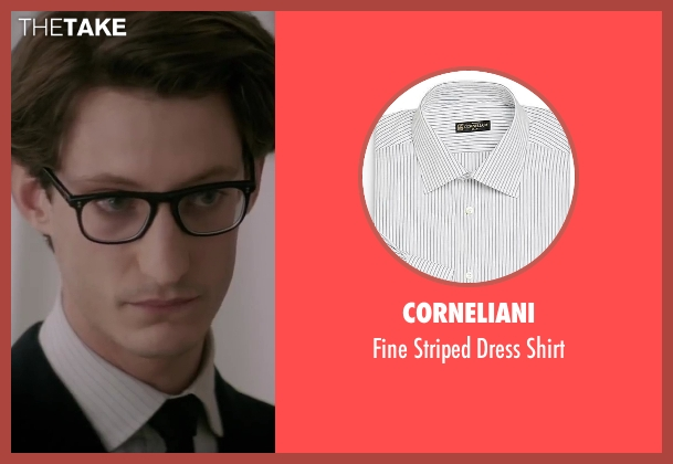 Corneliani white shirt from Yves Saint Laurent seen with Pierre Niney (Yves Saint Laurent)