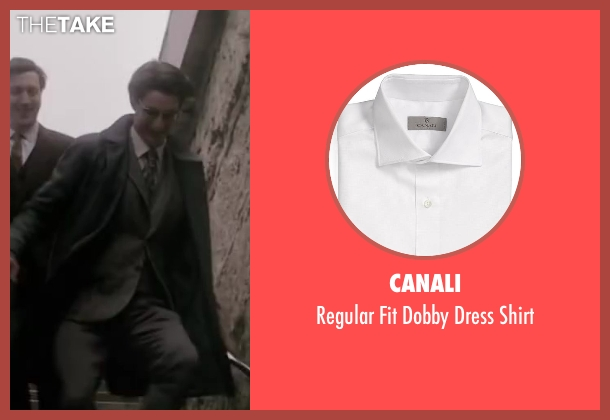 Canali white shirt from Yves Saint Laurent seen with Pierre Niney (Yves Saint Laurent)