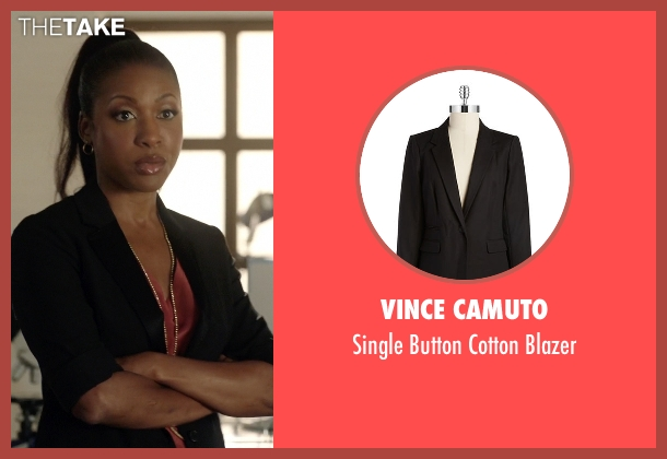 Vince Camuto black blazer from Rosewood seen with Pippy Rosewood (Gabrielle Dennis)