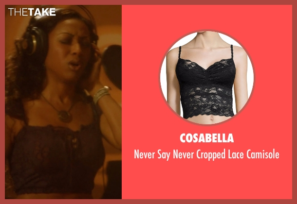 Cosabella black camisole from Rosewood seen with Pippy Rosewood (Gabrielle Dennis)