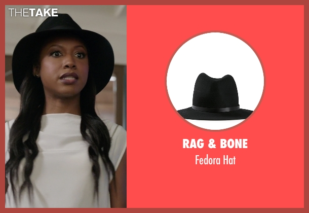 Rag & Bone black hat from Rosewood seen with Pippy Rosewood (Gabrielle Dennis)