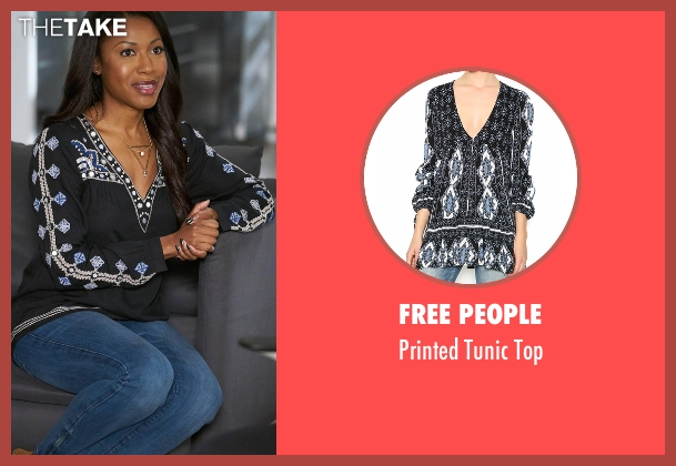Free People black top from Rosewood seen with Pippy Rosewood (Gabrielle Dennis)