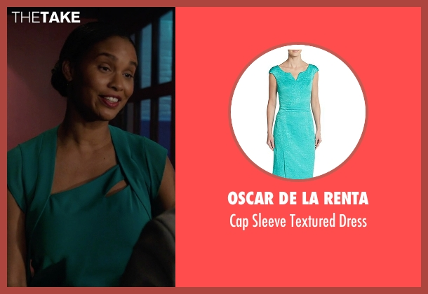 Oscar De La Renta blue dress from Rosewood seen with Pippy Rosewood (Gabrielle Dennis)