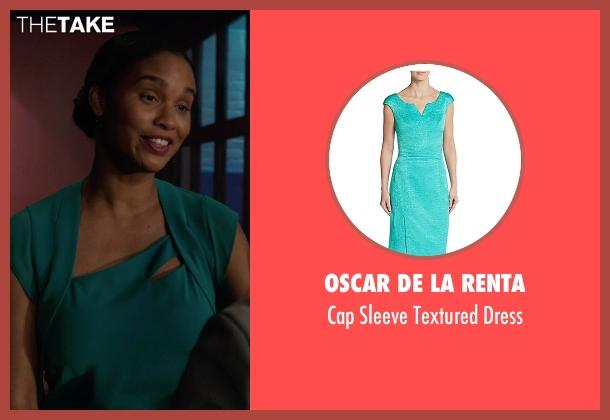 Oscar De La Renta blue dress from Rosewood seen with Pippy Rosewood (Gabrielle Dennis)
