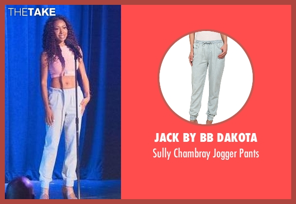 Jack By BB Dakota blue pants from Rosewood seen with Pippy Rosewood (Gabrielle Dennis)