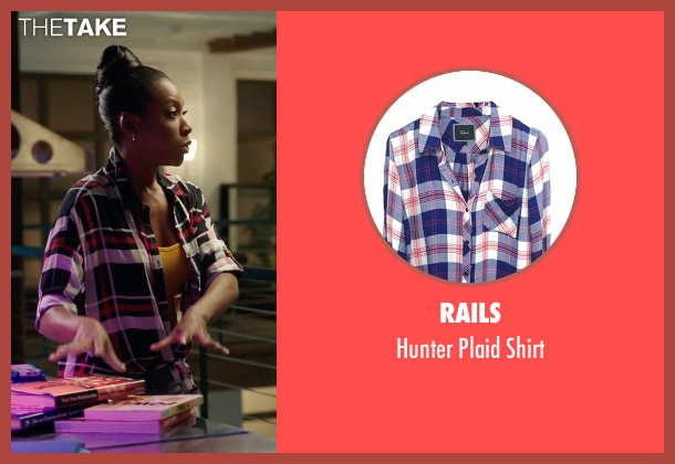 Rails blue shirt from Rosewood seen with Pippy Rosewood (Gabrielle Dennis)
