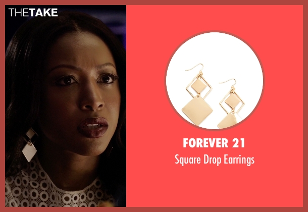 Forever 21 gold earrings from Rosewood seen with Pippy Rosewood (Gabrielle Dennis)
