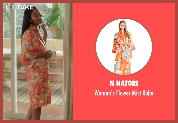 N Natori orange robe from Rosewood seen with Pippy Rosewood (Gabrielle Dennis)