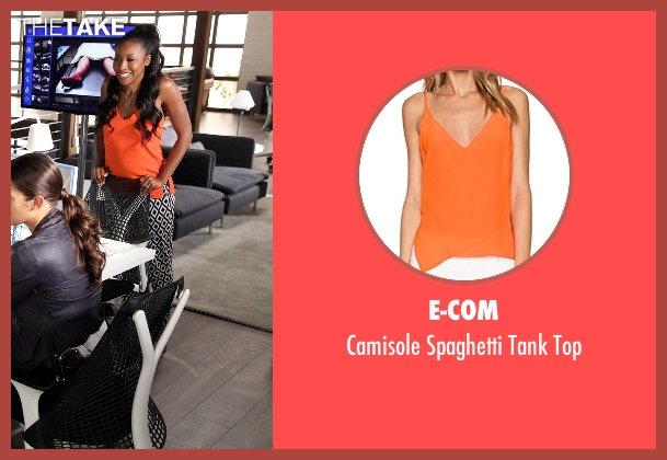 E-Com orange top from Rosewood seen with Pippy Rosewood (Gabrielle Dennis)
