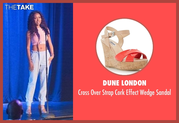 Dune London pink sandal from Rosewood seen with Pippy Rosewood (Gabrielle Dennis)