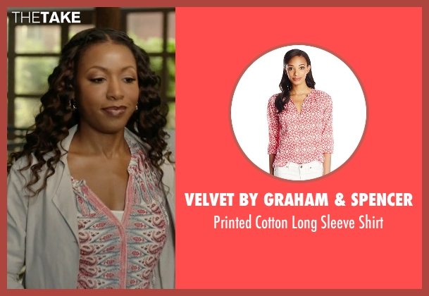 Velvet by Graham & Spencer pink shirt from Rosewood seen with Pippy Rosewood (Gabrielle Dennis)