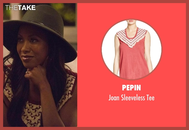 Pepin red tee from Rosewood seen with Pippy Rosewood (Gabrielle Dennis)