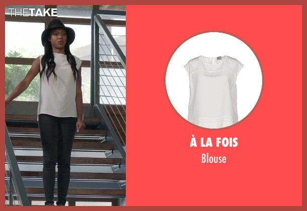 À La Fois white blouse from Rosewood seen with Pippy Rosewood (Gabrielle Dennis)