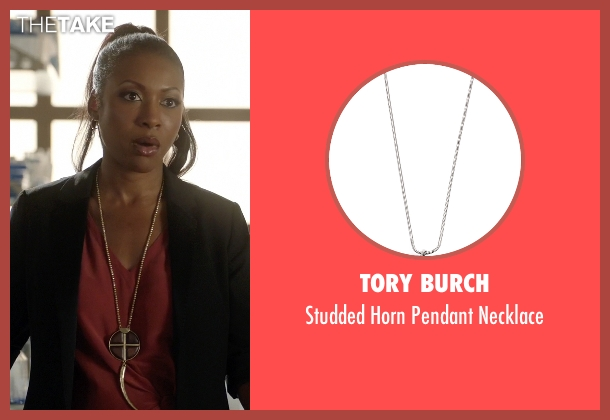 Tory Burch white necklace from Rosewood seen with Pippy Rosewood (Gabrielle Dennis)
