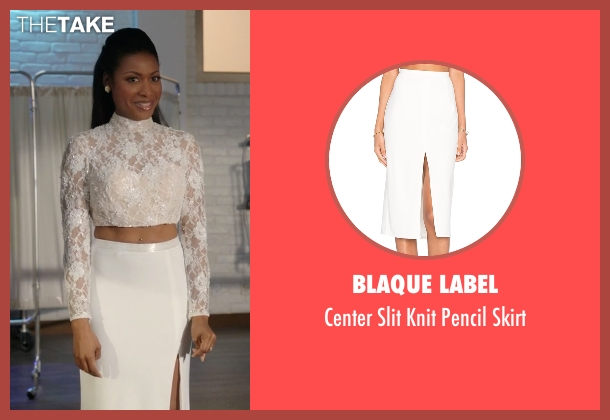 Blaque Label white skirt from Rosewood seen with Pippy Rosewood (Gabrielle Dennis)