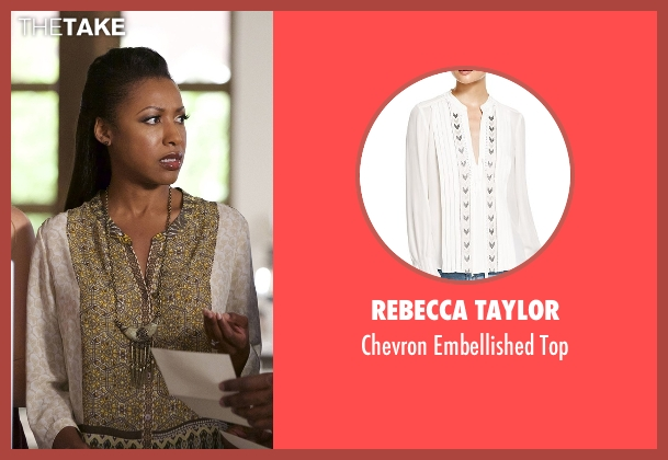 Rebecca Taylor white top from Rosewood seen with Pippy Rosewood (Gabrielle Dennis)