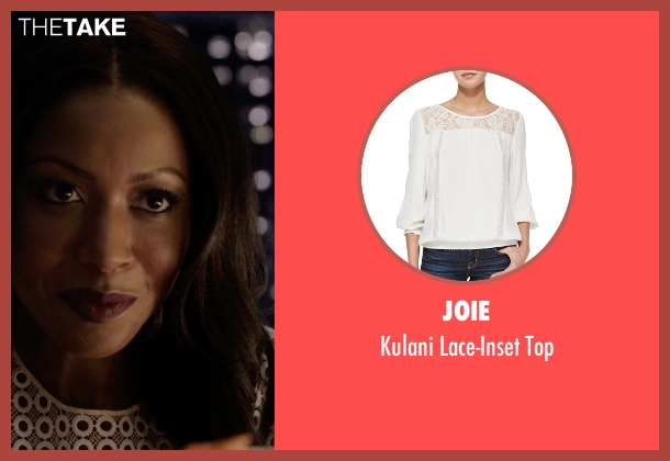 Joie white top from Rosewood seen with Pippy Rosewood (Gabrielle Dennis)