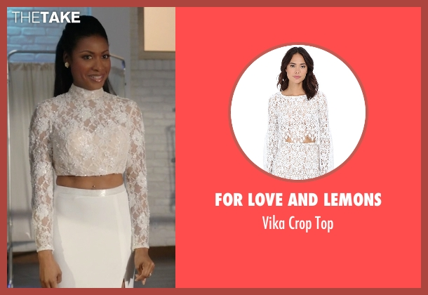 For Love And Lemons white top from Rosewood seen with Pippy Rosewood (Gabrielle Dennis)