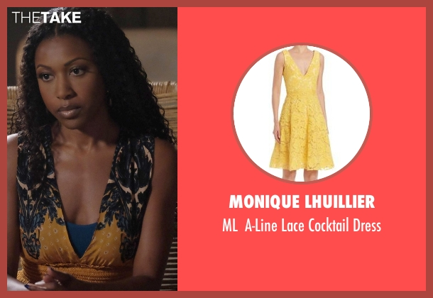 Monique Lhuillier yellow dress from Rosewood seen with Pippy Rosewood (Gabrielle Dennis)