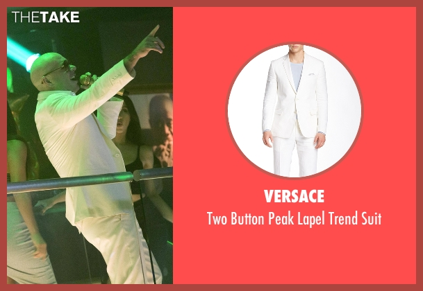 Versace white suit from Empire seen with Pitbull
