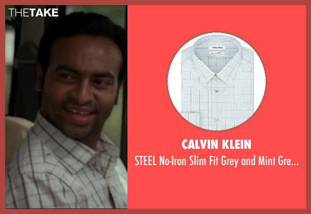 Calvin Klein green shirt from Million Dollar Arm seen with Pitobash (Amit Rohan)