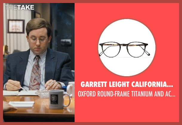GARRETT LEIGHT CALIFORNIA OPTICAL black glasses from The Wolf of Wall Street seen with P.J. Byrne (Nicky Koskoff ('Rugrat'))