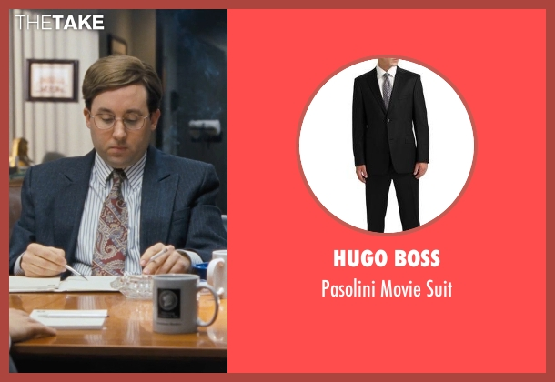 HUGO BOSS black suit from The Wolf of Wall Street seen with P.J. Byrne (Nicky Koskoff ('Rugrat'))