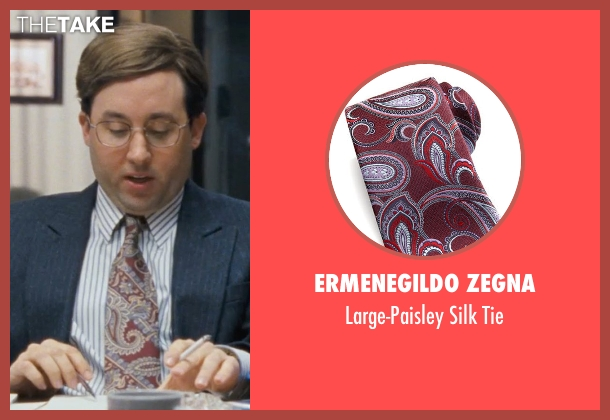 Ermenegildo Zegna red tie from The Wolf of Wall Street seen with P.J. Byrne (Nicky Koskoff ('Rugrat'))