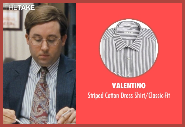 Valentino white shirt/classic-fit from The Wolf of Wall Street seen with P.J. Byrne (Nicky Koskoff ('Rugrat'))