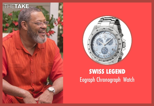 Swiss Legend silver watch from Black-ish seen with Pops (Laurence Fishburne)