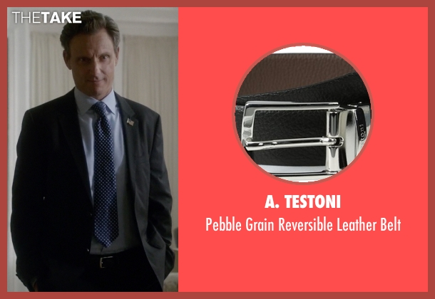 A. Testoni black belt from Scandal seen with President Fitzgerald Grant (Tony Goldwyn)