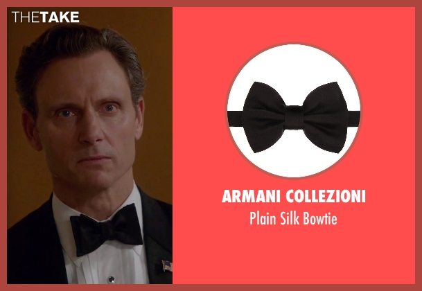 Armani Collezioni black bowtie from Scandal seen with President Fitzgerald Grant (Tony Goldwyn)