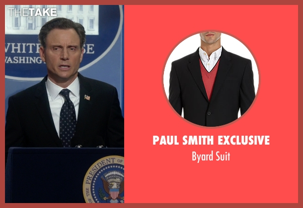 Paul Smith Exclusive black suit from Scandal seen with President Fitzgerald Grant (Tony Goldwyn)